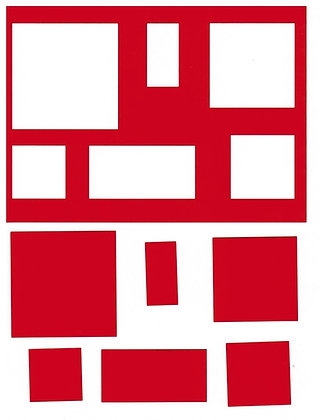 Sjabloon A6 Vierkanten en Rechthoeken