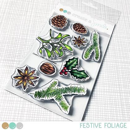 Festive foliage stamps Create a smile