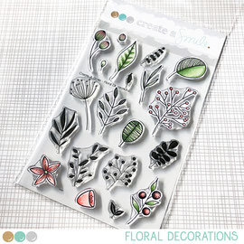 Floral Decorations clear stamps Create a smile
