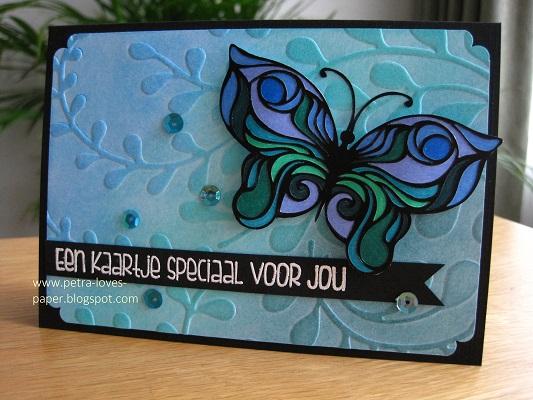 een kaartje speciaal voor jou vlinder