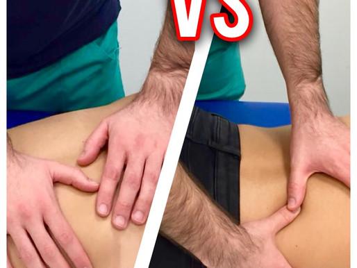 Terapia manuale specifica VSmassaggio classico