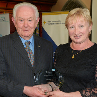 Runner-up Breda Disney together with Michael Moynihan, CPD coordinator, IMTA
