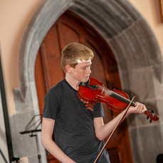 Archie Connolly plays Bach Allemanda from Partita no. 2 followed by Gigue from Partita no. 3