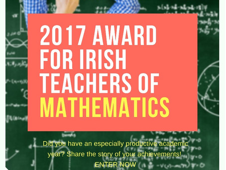 The first edition of the Award for Irish Teachers of Mathematics