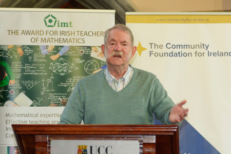 Prof Finbarr Holland speaking about the  beginnings of the participation by Ireland at the IMO: