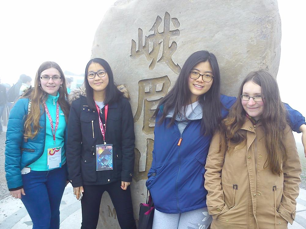 Team Ireland at the Chinese Rock on Mount Rigi, near Zurich.