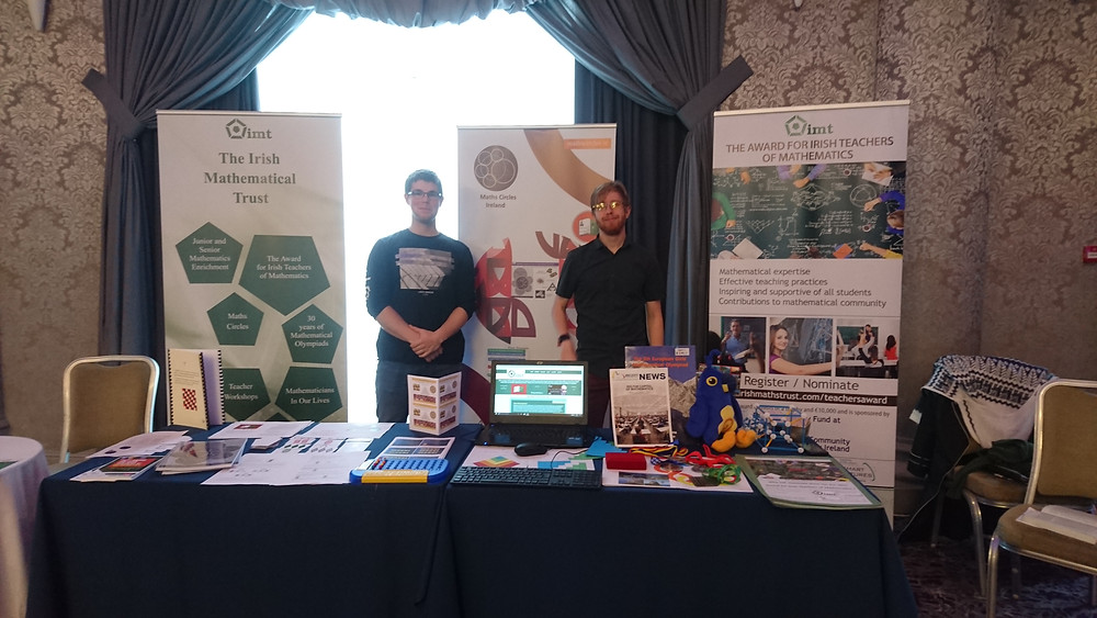 The IMT stand at MathsFest 2017 in Rochestown Park Hotel, Cork