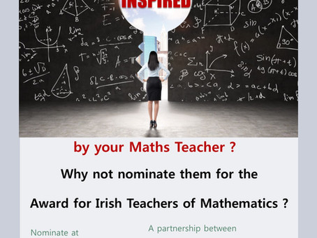 Nominations Open for Second Year of the Award for Irish Teachers of Mathematics