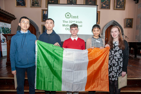 Members of team Ireland for IMO 2019