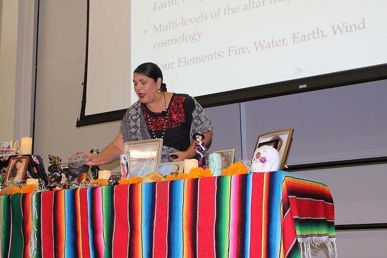 Dia de Muertos presentation at UC San Marcos, 2017.