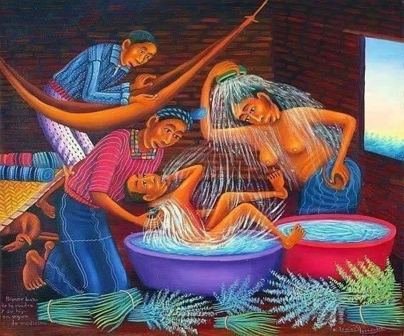 Art/Imagen: Baños Medicinales © Diego Isaias Hernandez (Maya; Guatemala), courtesy of ArteMaya.com