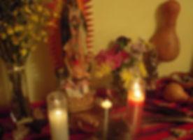 Popoxcomitl and copal from curandera Grace Sesma