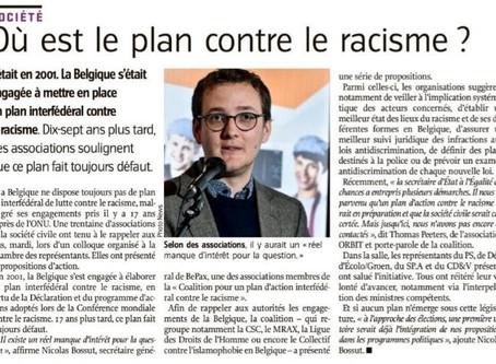 Où est le plan contre le racisme?