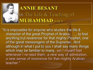 Annie Besant on Prophet Muhammad