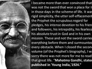 Mahatma Gandhi on Prophet Muhammad