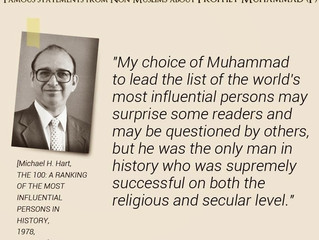 Michael H. Hart on Prophet Muhammad