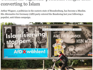 Far Right German politician left leadership post after accepting ISLAM