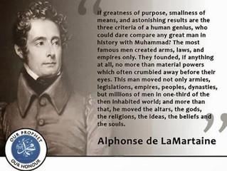 Alphonso de LaMartaine on Prophet Muhammad