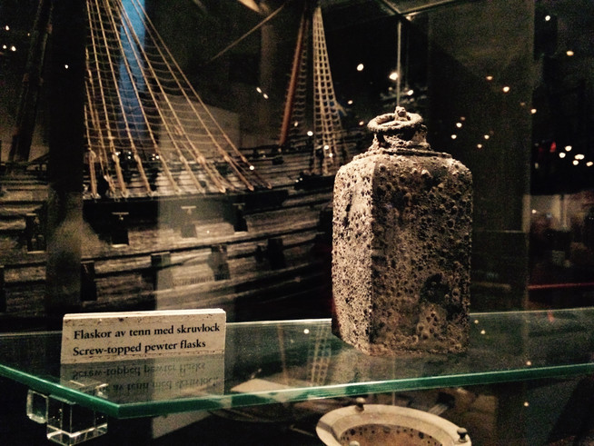 Stockholm - Vasa Museum - Food History of the Vasa and its Crew.