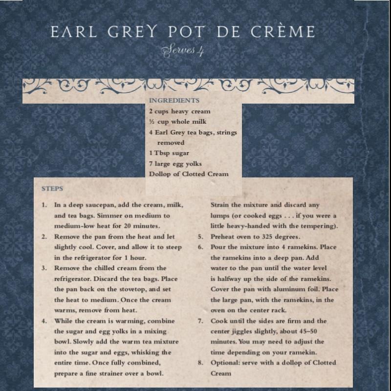 Earl Grey Pot de Creme Recipe