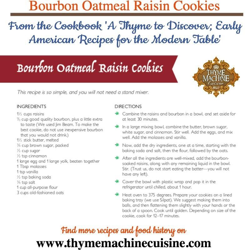 Bourbon Oatmeal Raisin Cookies