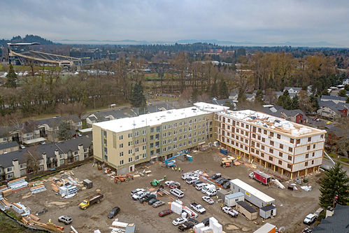 The Flats at Chase Village in Eugene Oregon Under construction Student Housing
