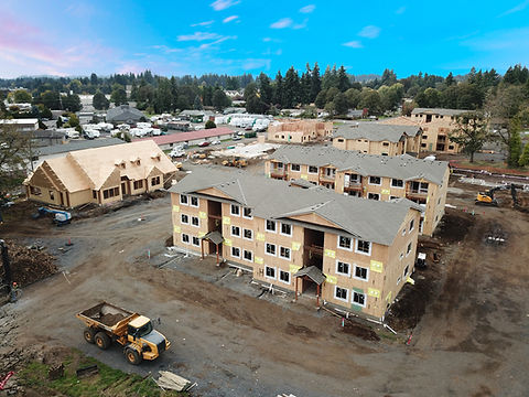 St Helens Apartment Complex under construction in St. Helen's Oregon