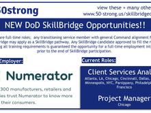 NEW SkillBridge Opps at Numerator!!