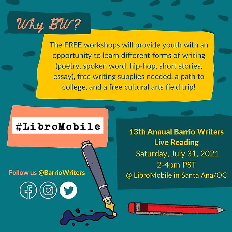13th Annual Barrio Writers Live Reading
