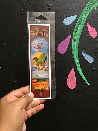 Green Parrots of Santa Ana bookmark by Marina Aguilera