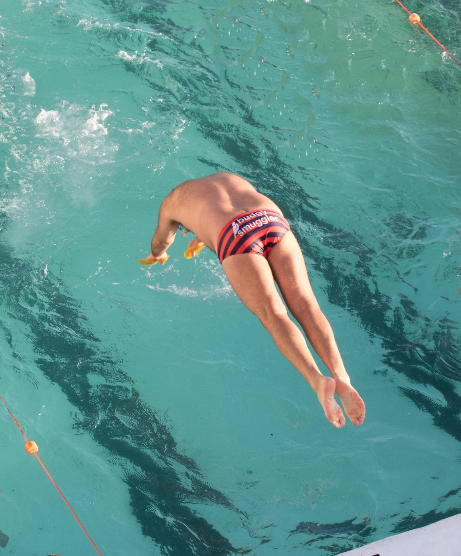 dive into Icebergs Pool, Bondi Beach