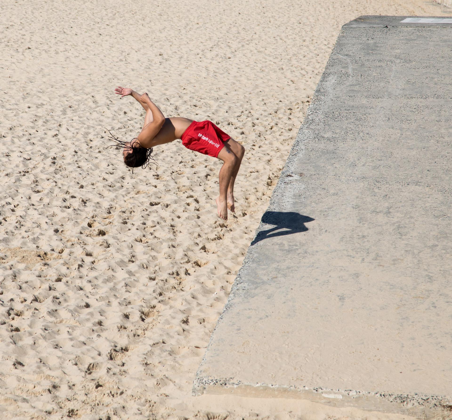 backwards sommersault , Bondi Beach