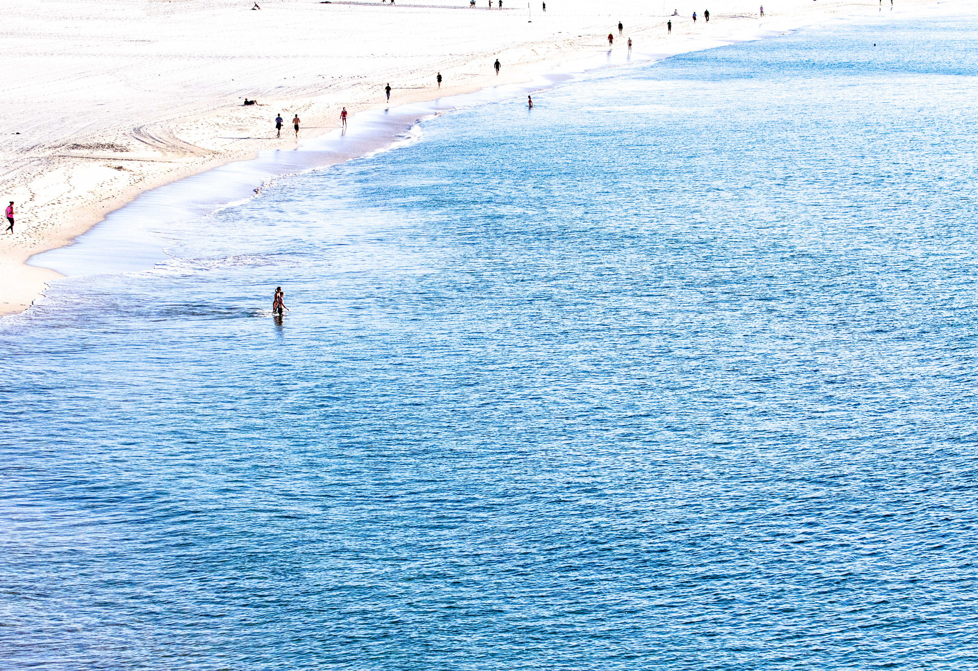 Bondi blue with joggers