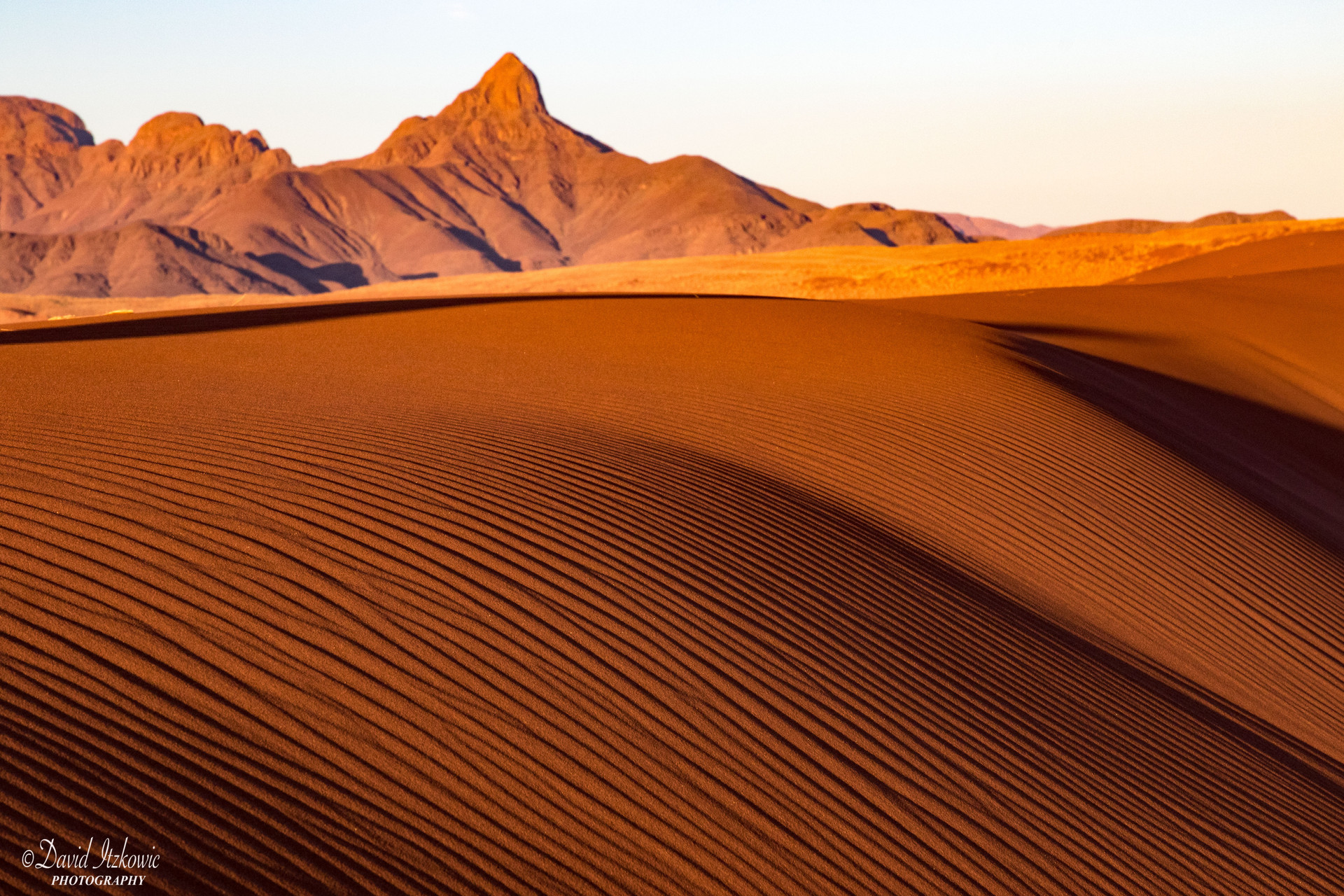 sand dune at dusk