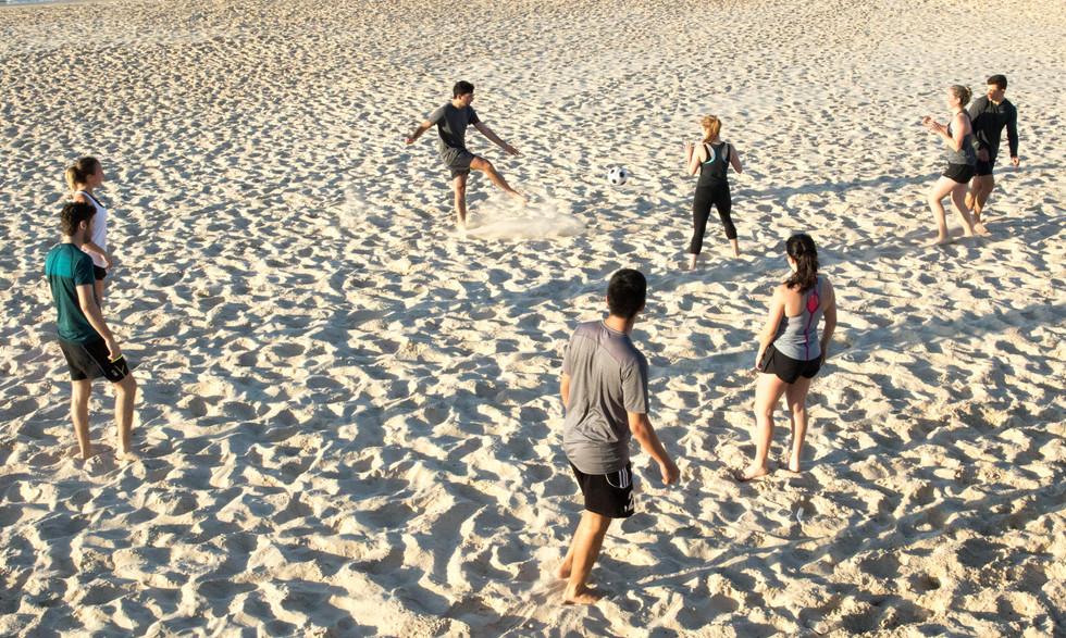 soccer on Bondi Beach