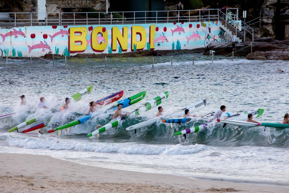 kayak race, Bondi Beach