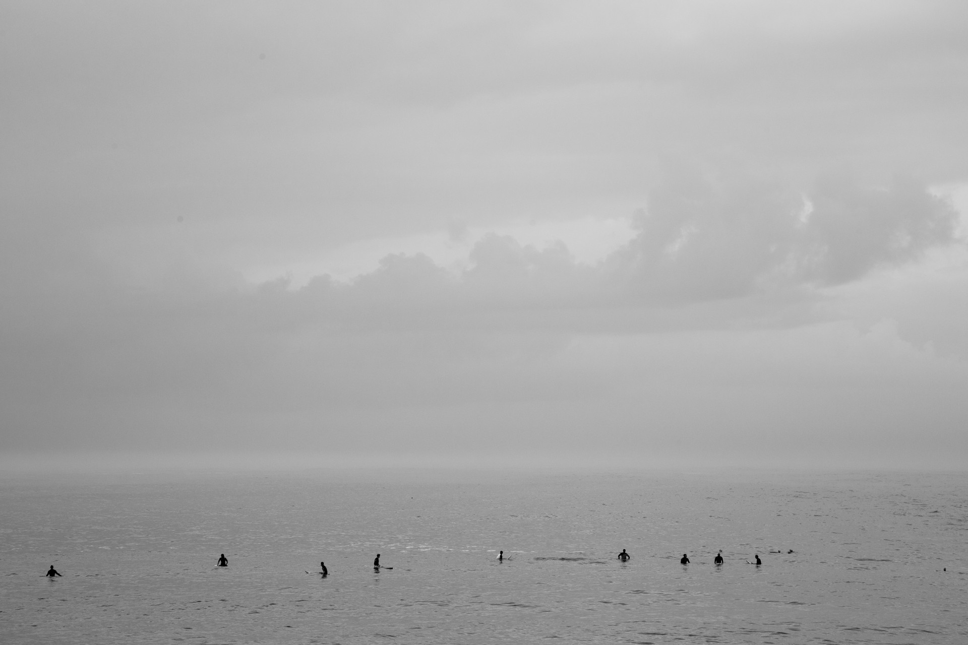 grey day, Bondi Beach