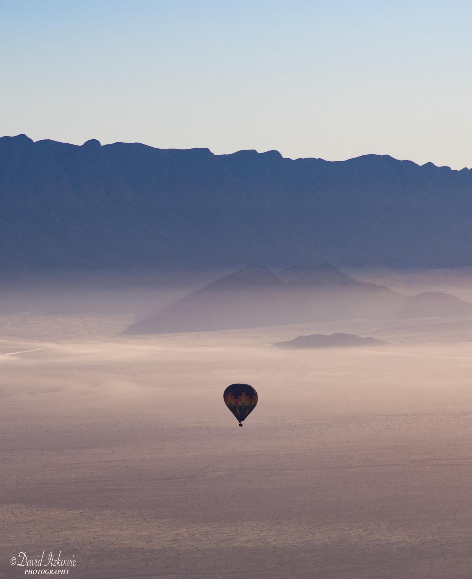 Hot balloon in the desert