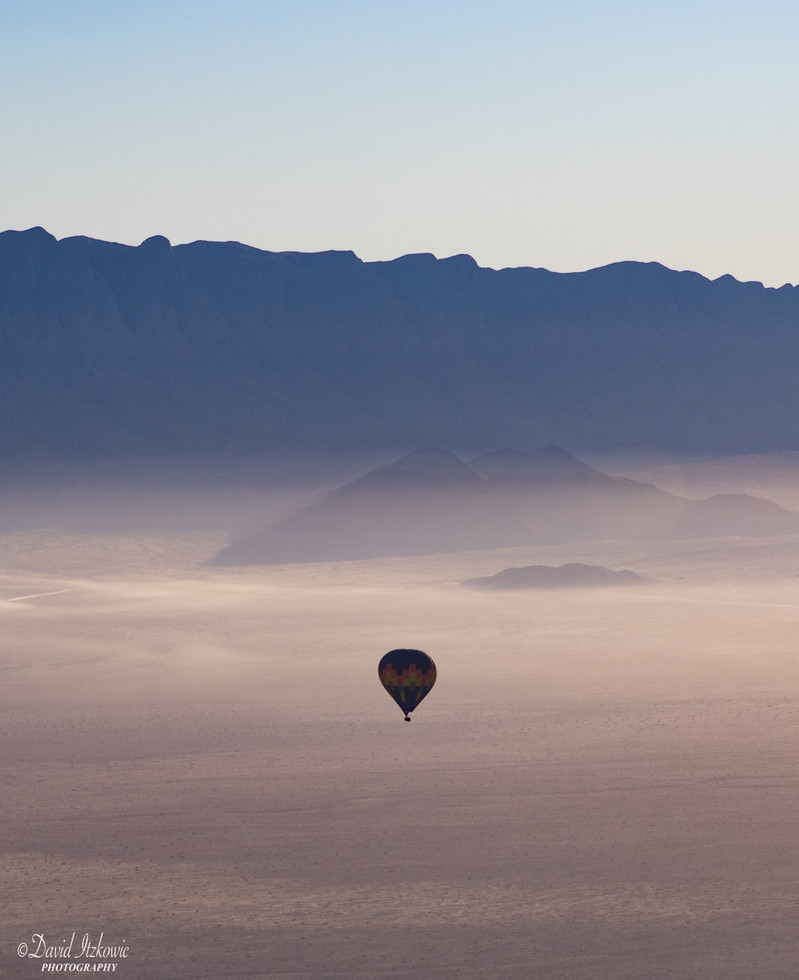 Hot balloon in the desert