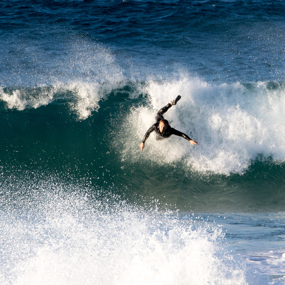 bodysurfer on wave