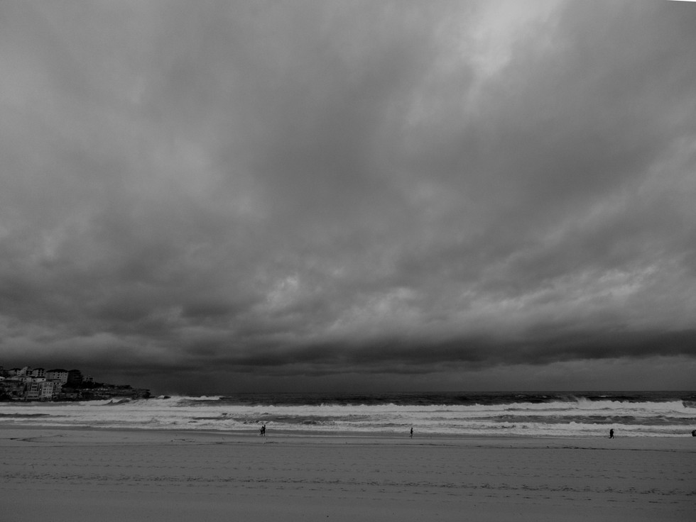 storm clouds from the north, Bondi Beach