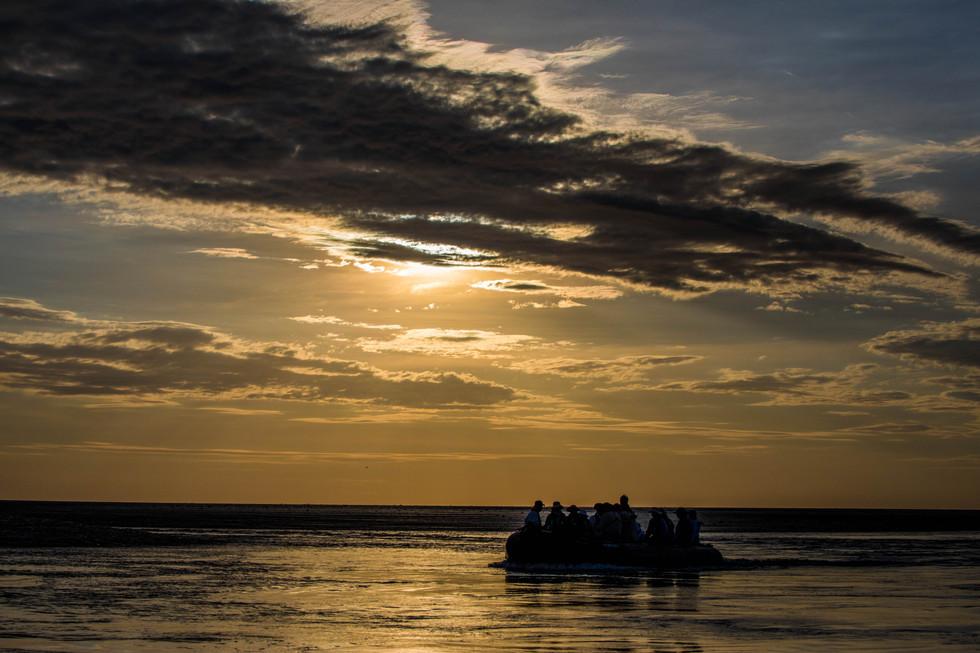 sunset, Montgomery reef