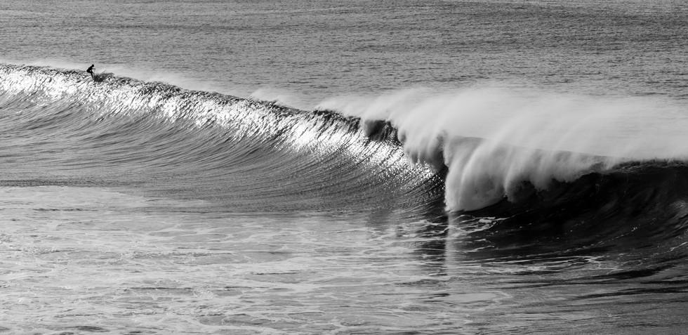 surfer avoids dump