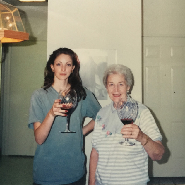 Christening my first apartment in San Ramone, California with wine