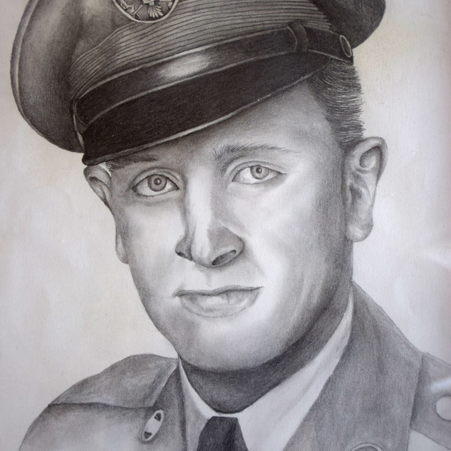A drawing of my Grandfather in his military uniform