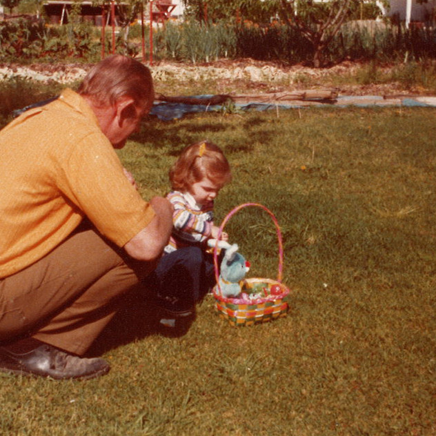 An Easter egg hunt with my grandpa