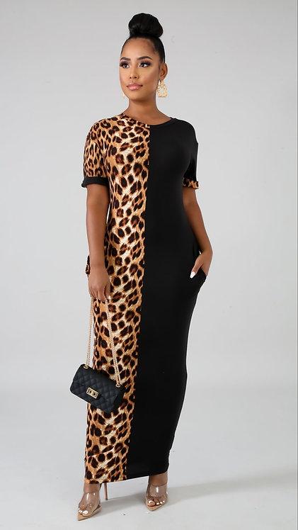 Safari girl maxi dress