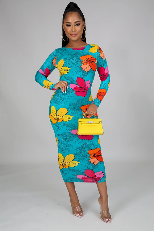 Love on top midi dress