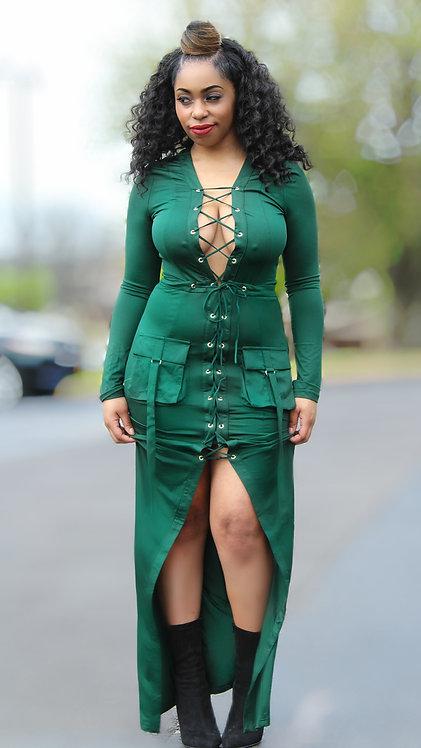 Remi emerald maxi dress