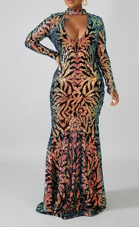 Mariah glam maxi dress